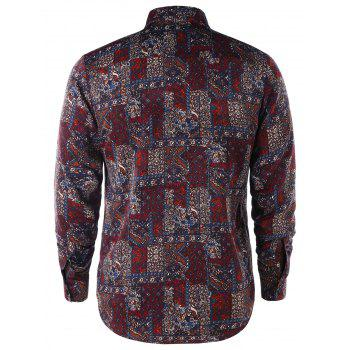 Tiny Floral Long Sleeve Shirt - COLORMIX L