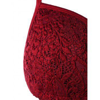 Cami Lace Cropped Top - WINE RED 2XL