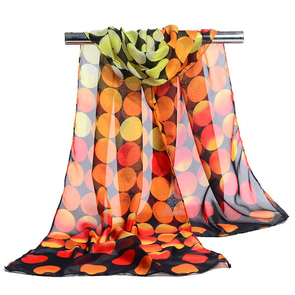 Simple Polka Dot Pattern Long Scarf - ORANGE YELLOW