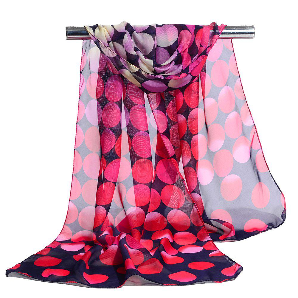 Simple Polka Dot Pattern Long Scarf - TUTTI FRUTTI