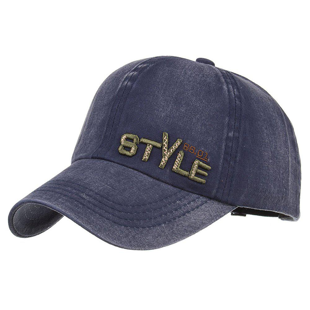 STYLE Embroidery Adjustable Graphic Hat - CADETBLUE