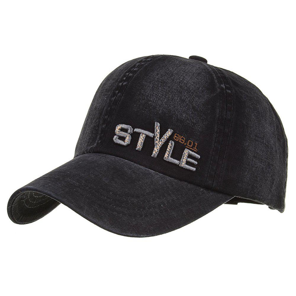 STYLE Embroidery Adjustable Graphic Hat - BLACK