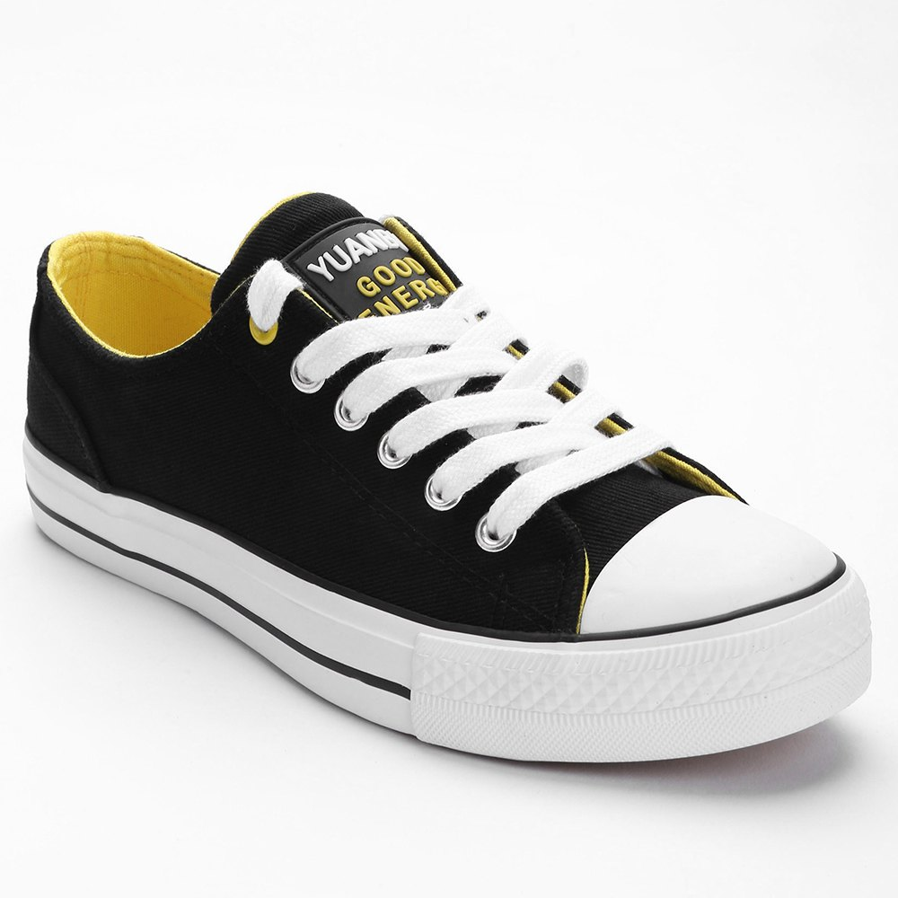 Casual Outing Sporty Sneakers - BLACK 39
