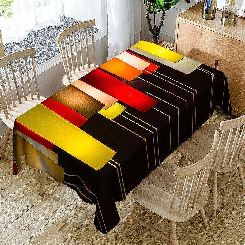 Geometric Figure Fabric Waterproof Table Cloth - COLORFUL GEOMETRIC W54 INCH * L54 INCH