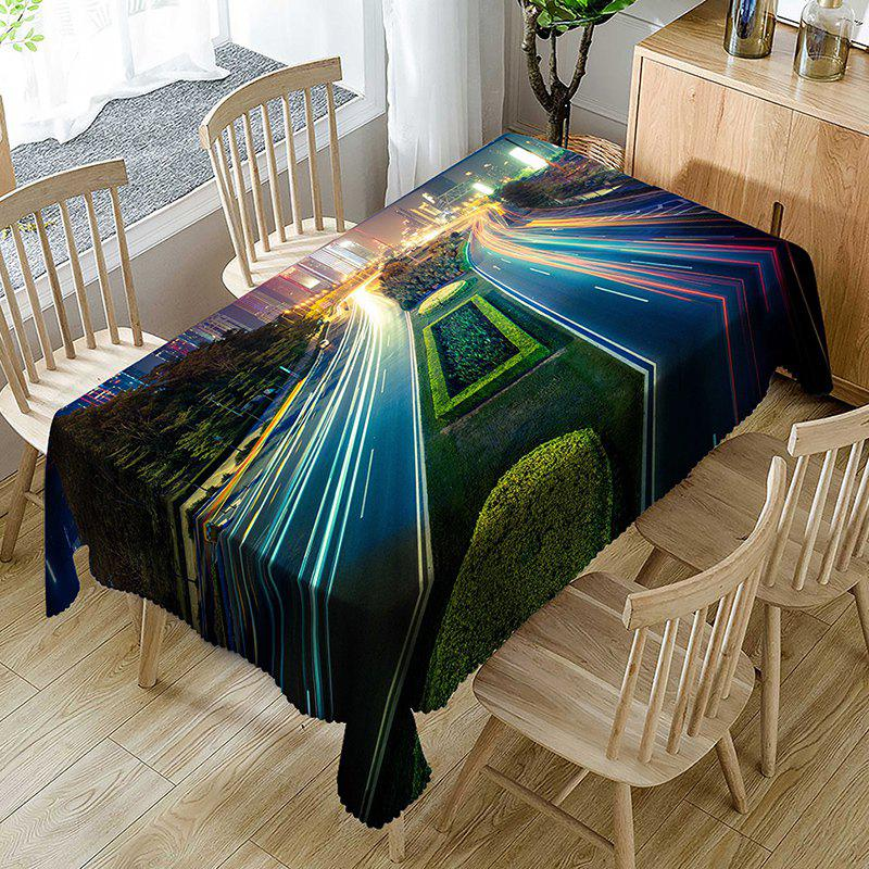 Bright Roadway Print Fabric Waterproof Table Cloth - COLORMIX W54 INCH * L72 INCH