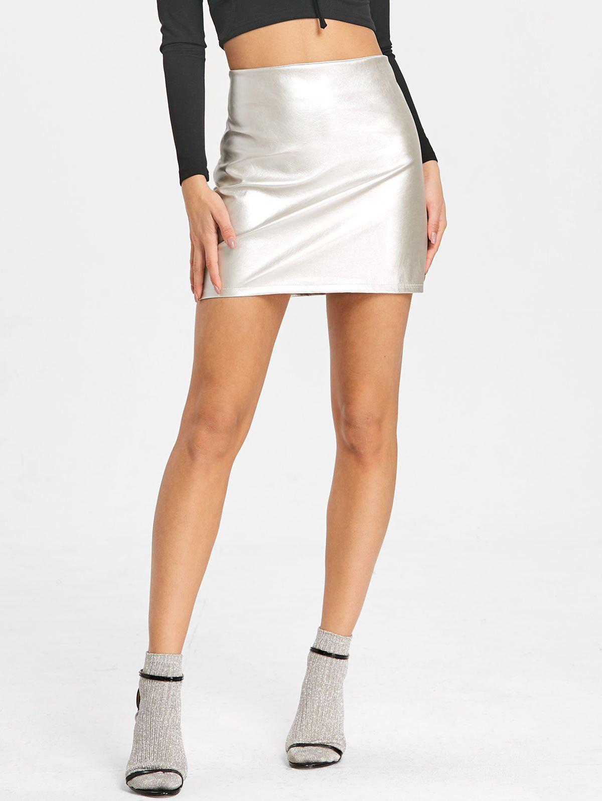Mini-jupe Sparkle High Rise - Argent M