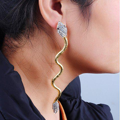 Punk Style Alloy Snake Shape Drop Earrings - GOLDEN