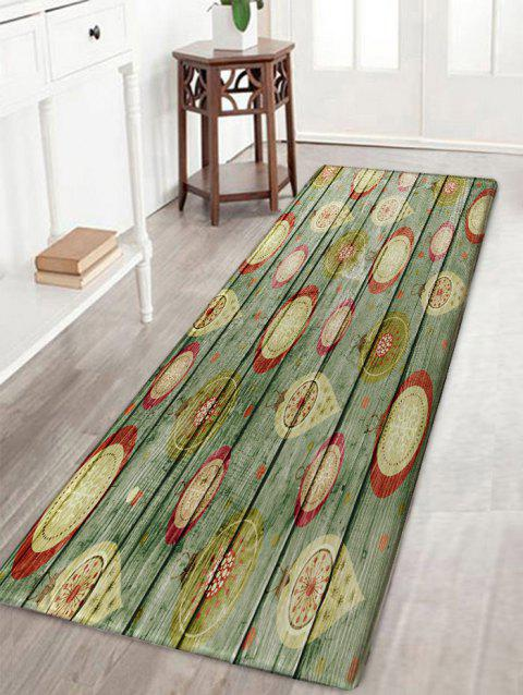 Wood Plank Patterned Skidproof Area Rug - COLORMIX W16 INCH * L47 INCH