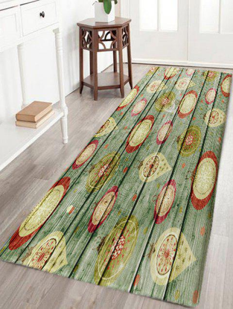 Wood Plank Patterned Skidproof Area Rug - COLORMIX W24 INCH * L71 INCH