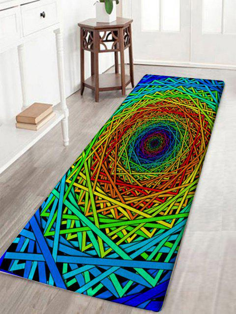 Abstract Psychedelic Geometric Skidproof Bath Rug - COLORFUL GEOMETRIC W16 INCH * L47 INCH