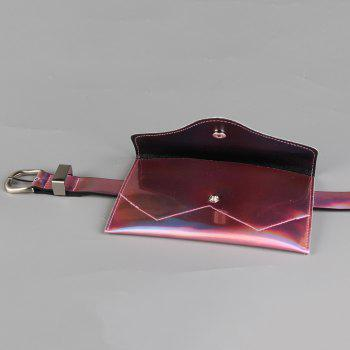 Funny Bag Decorated Artificial Patent Leather Skinny Belt - PINK