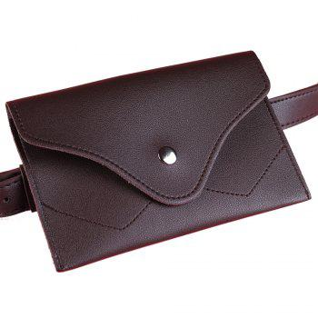 Removable Funny Bag Embellished Artificial Leather Skinny Belt - CAPPUCCINO