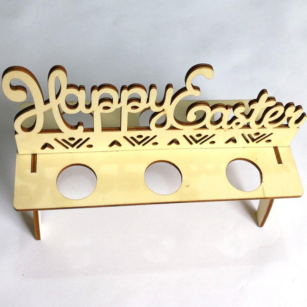 Happy Easter Wooden Egg Holder Easter Decorations - WOOD