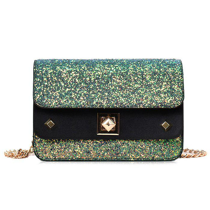 Shimmer Chain Crossbody Bag - COLORMIX