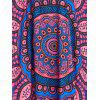 Butterfly Sleeve Tribal Print Long Cover Up - COLORMIX L