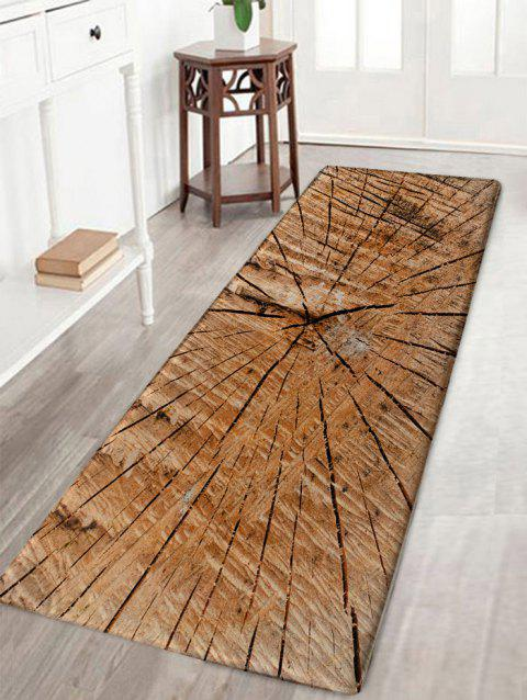 Crack of Wood Printed Water Absorption Bath Rug - WOOD COLOR W16 INCH * L47 INCH