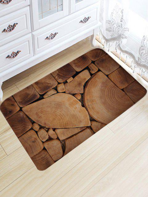 Irregular Wood Blocks Water Absorption Bath Mat - WOOD COLOR W20 INCH * L31.5 INCH