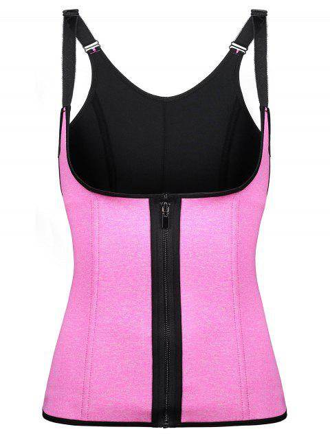 Zip Underbust Space Dye Corset Vest - ROSE RED 2XL