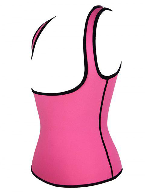 Plus Size Under Bust Waist Sauna Vest - ROSE RED 5XL
