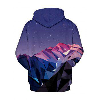 Sweat à capuche imprimé géométrique Galaxy 3D - multicolorcolore M