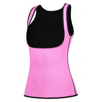 Space Dye Cincher Trainer Corset Vest - ROSE RED 2XL