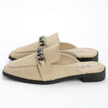 Flat Heel Mules Shoes - OFF WHITE 39