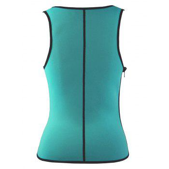 Plus Size Under Bust Waist Sauna Vest - BLUE GREEN XL