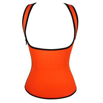 Plus Size Under Bust Waist Sauna Vest - ORANGE RED 3XL