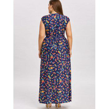 Plus  Size Maxi Empire Waist Dress - BLACK 5XL