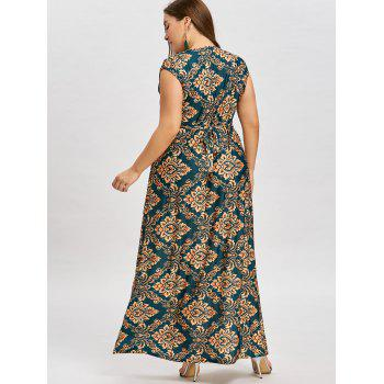 Plus Size Maxi Empire Waist Dress - FLORAL 6XL