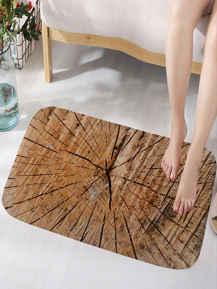 Crack of Wood Printed Water Absorption Bath Rug - WOOD COLOR W16 INCH * L24 INCH