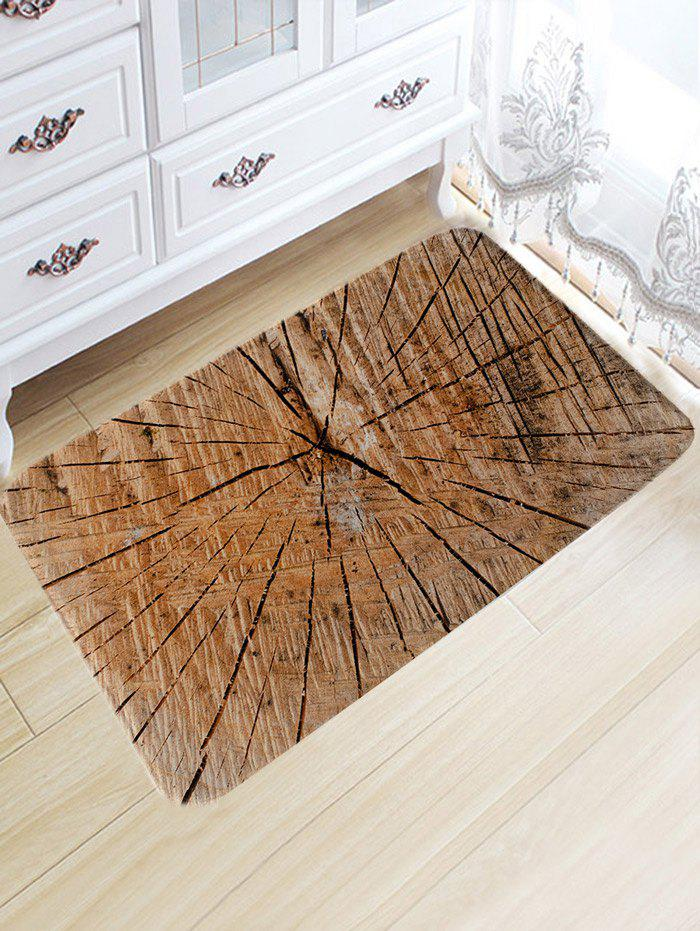 Crack of Wood Printed Water Absorption Bath Rug - WOOD COLOR W20 INCH * L31.5 INCH