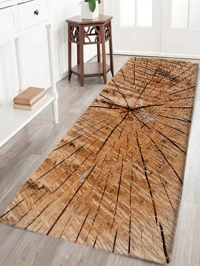 Crack of Wood Printed Water Absorption Bath Rug - WOOD COLOR W24 INCH * L71 INCH