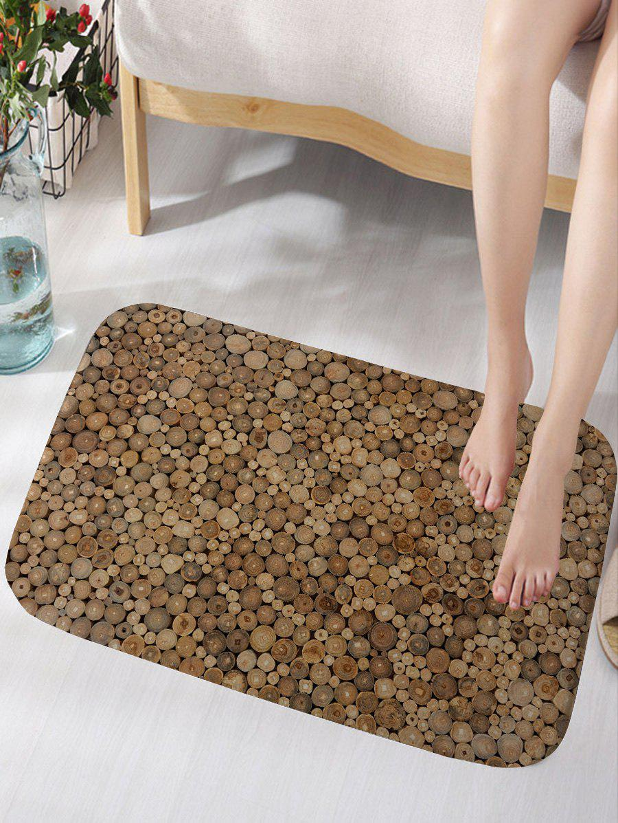 Wood Printed Flannel Skidproof Bath Mat цена 2017