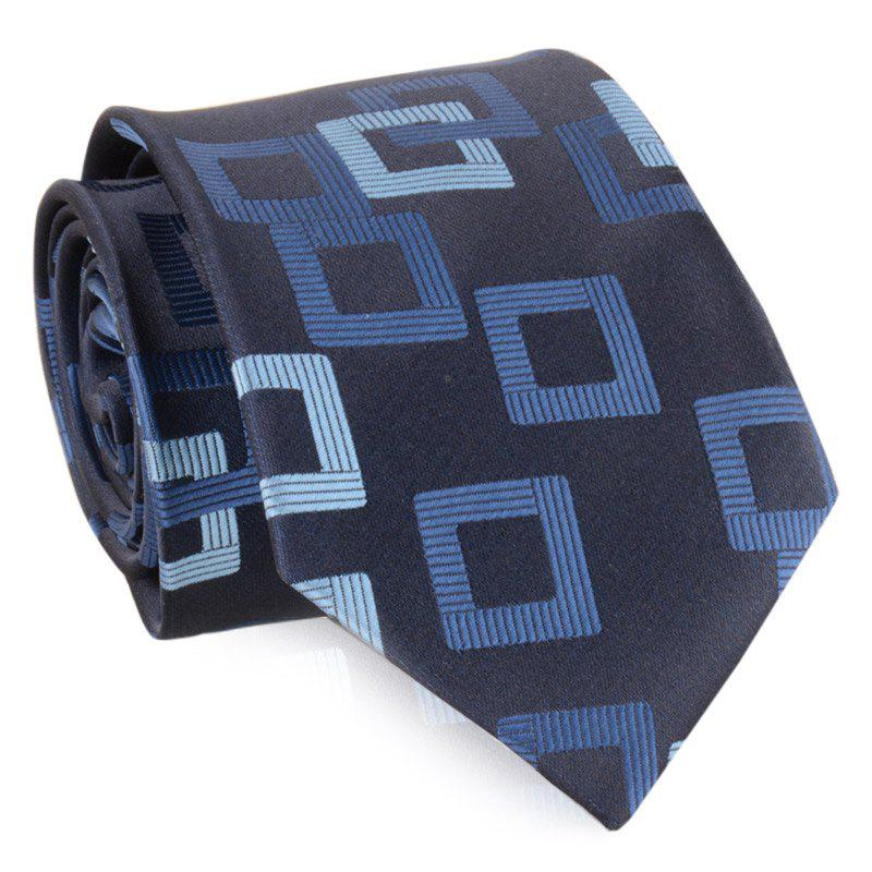 Polka Dot Striped Pattern Silky Necktie - CADETBLUE