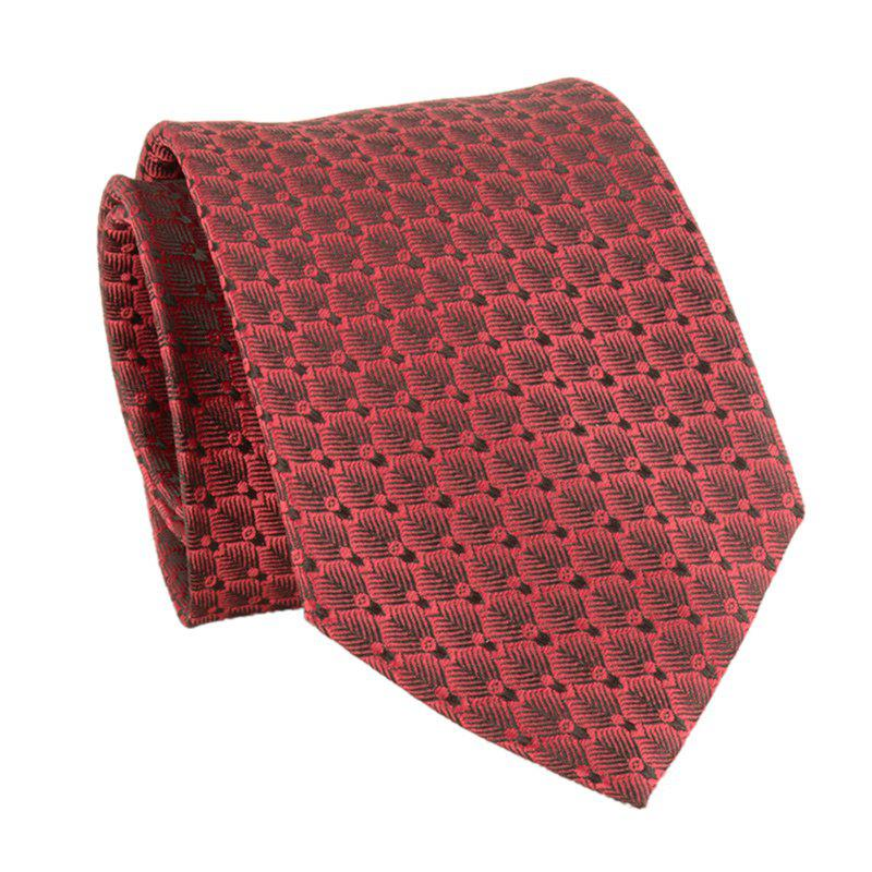 Simple Polka Dot Pattern Silky Necktie - DEEP RED