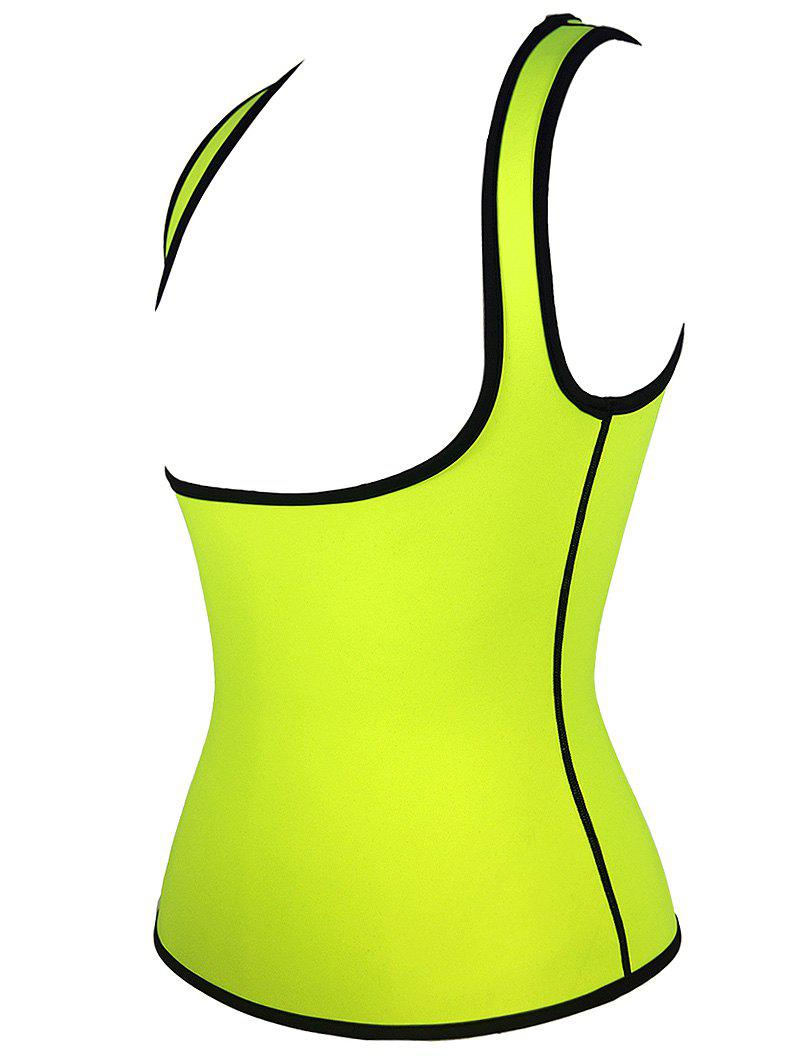 Plus Size Under Bust Waist Sauna Vest - NEON GREEN XL