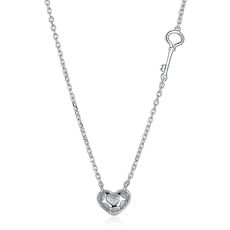 gagafeel silver sterling love day valentines crystal heart s image jewelry for women pendant valentine necklaces chain product hearts products gift