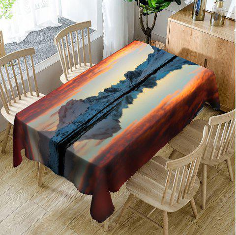 Sunset Mountain Print Waterproof Dining Table Cloth - COLORMIX W54 INCH * L72 INCH