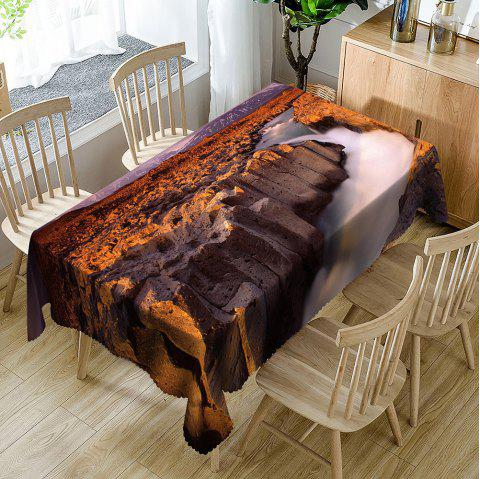 Canyon Landscape Pattern Waterproof Table Cloth - BROWN W54 INCH * L72 INCH