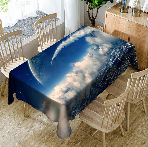 Sky Planfrom Pattern Waterproof Table CLoth - BLUE/WHITE W54 INCH * L72 INCH