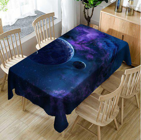 Galaxy Planet Pattern Waterproof Table Cloth - VIOLET BLUE W54 INCH * L72 INCH