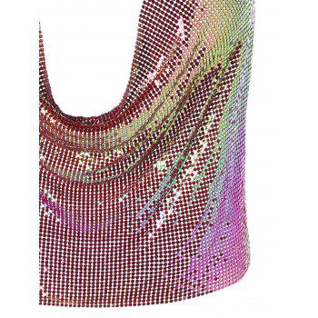Lingerie Club Glitter Halter Crop Top - Rouge ONE SIZE