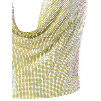 Lingerie Club Glitter Halter Crop Top - YELLOW ONE SIZE