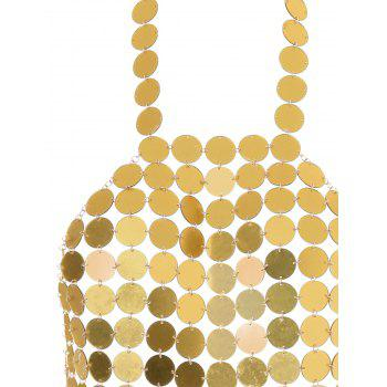 Metal Scale Empress Tank Top - VENETIAN GOLD ONE SIZE