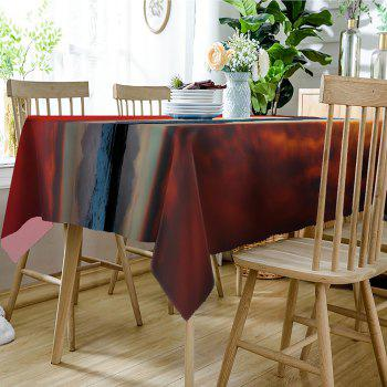 Sunset Mountain Print Waterproof Dining Table Cloth - COLORMIX W60 INCH * L84 INCH