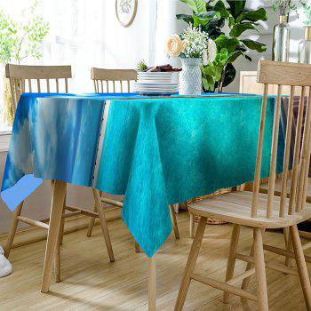 Seascape Print Waterproof Table Cloth - BLUE W54 INCH * L72 INCH