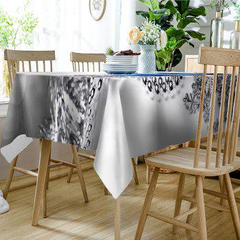 Christmas Balls Pattern Waterproof Table Cloth - SILVER W54 INCH * L54 INCH