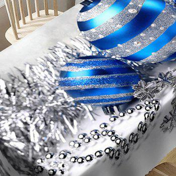Christmas Balls Pattern Waterproof Table Cloth - SILVER W60 INCH * L84 INCH