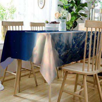 Sky Planfrom Pattern Waterproof Table CLoth - BLUE/WHITE W60 INCH * L84 INCH